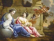 SIMON VOUET STUDIO FRENCH MUSES URANIA CALLIOPE OLD ART PAINTING POSTER BB6367A