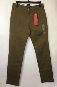 NWT Levi's 511 Slim Chino Pants Size 28 x 32 Cougar Twill - Khaki 248880011