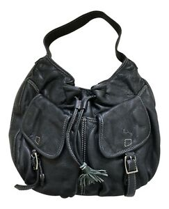 Paul Smith Black Leather Holdall  Bag with Stow Bag