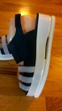 """NWOB Weekend Barber """"Climb"""" Navy/Gray Suede Open Toe Sling Back Sandal Shoes 8.5"""