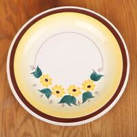 Vernon Kilns Brown Eyed Susan Serving Plate Platter Round