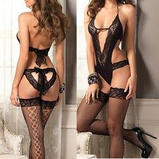Sexy Lace Women's Lingerie Babydoll Nightwear Sleepwear Dress G-string Underwear