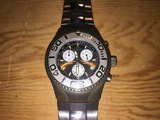 Orologio Watch Montre AQUAMARIN Sea Star Brown Steel Rubber - NO FUNZIONA