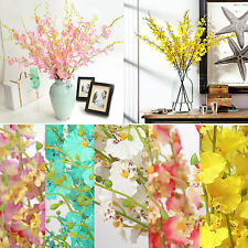 1x Artificial Phalaenopsis Dancing Orchid Silk Flower Wedding Bouquet Home Decor