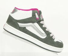 Vans Women's Size 7.5  Kaylyn Mid Leather Gray Pink White Shoe Sneakers