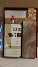 Vintage Buck Knives Honing Kit NO.133 with Sharpening Stones & Honing COMPLETE