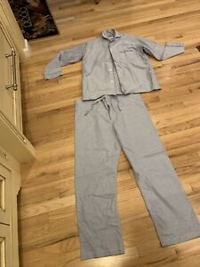 Brooks Brothers 2pc.Blue Long Sleeves Pajama Set wrinkle resistant all Cotton