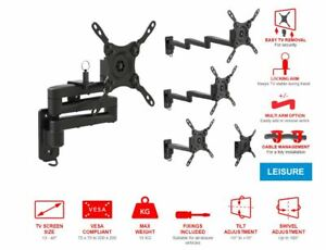 """TV Wall Mount Bracket 13""""- 40"""" - 1, 2 or 3 Cantilever Arm & Lock Pin OMP Maxview"""