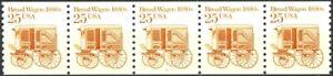 Bread Wagon Transportation Coil MNH PNC5 Strip of 5 PL #2 Scott 2136