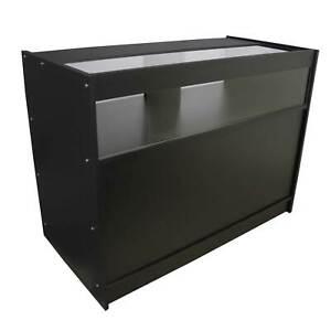 Shop Counter Black Vape Retail Product Display Unit Storage POS Cabinet Black