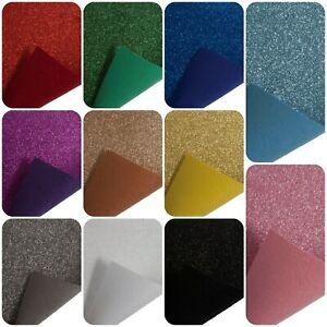100% Acrylic Glitter Felt A4 Sheet Crafting Bow Card Making Card Fabric Colours