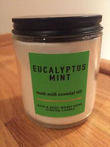 Bath & Body Works Eucalyptus Mint Candle Single Wick 7 oz Jar ~ NEW
