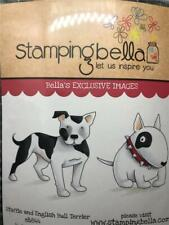 New Stamping Bella Cling Rubber Stamp Dogs Staffie & English Bull Terrier