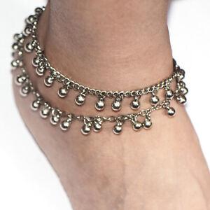 Ankelts For Women Girl Summer Jewelry Bohemia Beaded Foot Bracelet Summer Silver