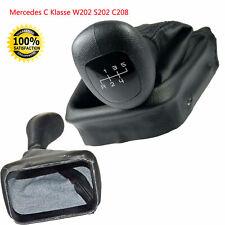 Schalsack + Schaltknauf für Mercedes C Klasse W202 S202 C208 CLK Rahmen 5 Gang