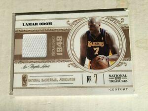 2010-11 Playoff National Treasures Century Game Worn Jersey # 21/99 Lamar Odom