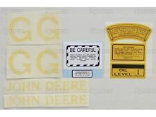 John Deere JD G (Early) Tractor Complete Decal Set Die-Cut Vinyl Label/Transfers