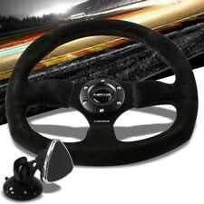 Black Spoke Flat Bottom RST-009S NRG Steering Wheel+Horn+TYA-D02 Phone Mount