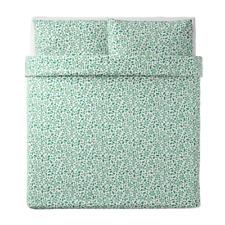 Ikea Juvelblomma Duvet Cover & Pillowcase(s) White Green King 704.497.70