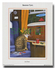 """Railway Cat picture """"First Class"""""""