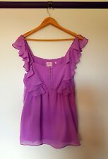 Leona edmiston Womens Size 14 Lavender purple Ruffle Sleeve Cami top