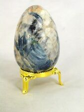 BUTW Blue Kyanite Crystal Healing 61mm x 41mm Egg Reiki Activated Lapidary 8769K