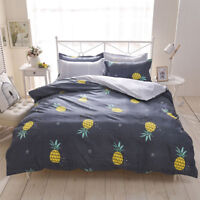 Pineapple Cotton Doona Duvet Cover Bedding Set Quilt Cover Single Queen King