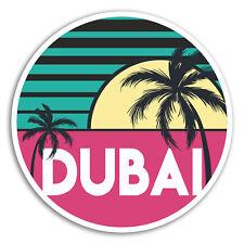 2 x 10cm Dubai Vinyl Stickers - UAE Cool Travel Sticker Laptop Luggage #18047