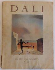 Dédicace Salvador Dali les éditions du Chêne 1957 Introduction par Michel Tapié