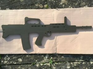 Wooden SA80 / L98A2 Training Aid/ WALL PLAQUE Military Army Style