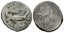 MARCO ANTONIO. Denario. (Ar. 3,15g/18mm). 32-31 a.C. Ceca volante. (Crawford 54