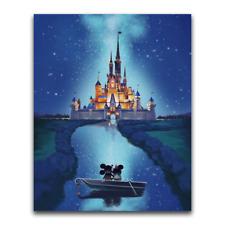 5D Diy Diamond Painting Disney Castle Cartoon Mickey Full Drill Embroidery Decor