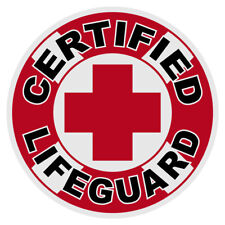 """Certified Lifeguard 2"""" Round Reflective Decal"""