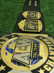 AEW WORLD TAG TEAM WRESTLING CHAMPIONSHIP REPLICA BELT 6MM ZINC