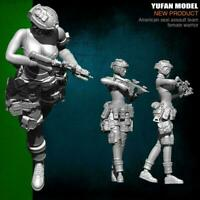 1/35 Modern U.S Army Special Forces Individual Women Soldier Resin Model Ne G7A7