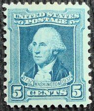 1932 5c George Washington, Peale, Blue Scott 710 Mint F/VF NH