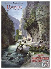 Affiche chemin de fer PLM - Dauphiné
