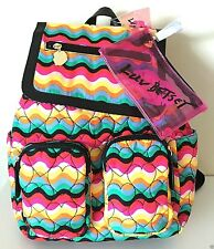 LUV BY BETSEY JOHNSON BACKPACK & Pouch Rainbow Shoulder Bag Hearts Be Mine Set