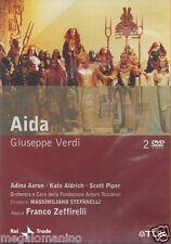 2 Dvd Box **AIDA ♦ GIUSEPPE VERDI** di Franco Zeffirelli nuovo Region Free 2001