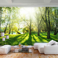 Fleece Photo Wallpaper Forest Sun Landscape Nature Wallpaper Murals XXL Living R...