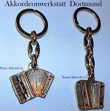 1 Schlüsselanhänger - Akkordeon, keychain accordion, llavero acordeon, accordeon