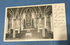BX694 St Marys Church Annapolis MD Interior View Poatcard 1908