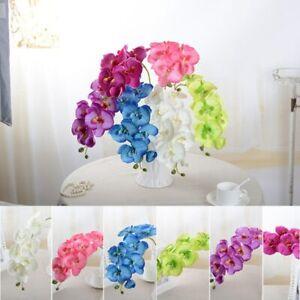 1Pcs Diy Artificial Silk Orchid Butterfly Moth Fake Flower Wedding Home Decor