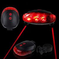 5 LED+2 Laser Rear Cycling Bicycle Bike Tail Safety Warning Flashing Lamp Light