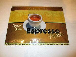 Espresso Coffee Embossed Tin Sign