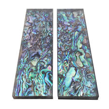 1Pair Natural Pura Abalone Knife Handle Inlay Big Scale Blank Sheet - 33x118x6mm