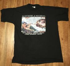 Vintage Michelangelo La Cappella Sistina Roma Anno Domini Mdxii Xxl Shirt 80s
