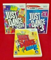 Just Dance 3, 2014, Kids 2 Dancing Games Nintendo Wii Game  1-4 players Complete