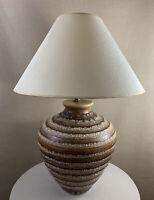Massive Vintage Mid Century Modern Bitossi Era Circa 1970's Glazed Ceramic Lamp