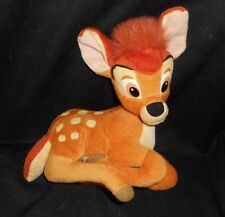 "8"" DISNEY APPLAUSE BABY BROWN BAMBI MOVIE LAYING STUFFED ANIMAL PLUSH TOY DEER"